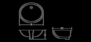 Kohler 2210 Caxton Oval 17 X 14