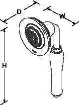 Bancroft Multifunction handshower Line Drawing