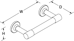Purist Toilet roll holder horizontal Line Drawing