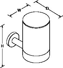 Stillness Tumbler and holder Line Drawing