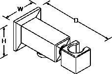 Loure Wall-mount handshower holder Line Drawing
