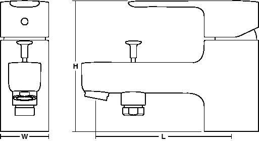 July Single-lever monobloc bath shower mixer Line Drawing