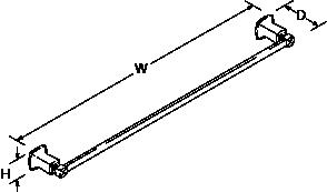 Margaux 762mm towel rail Line Drawing