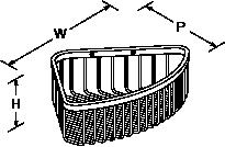 Cross range Corner basket large Line Drawing