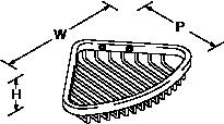Cross range Corner basket small Line Drawing