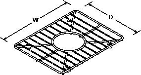 Bottom basin rack for Vault 3840-1 Line Drawing