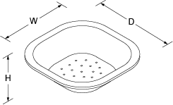 Colander for Icerock Line Drawing