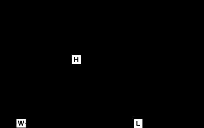 Cuff Single-lever monobloc bidet mixer Line Drawing