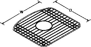 Bottom bowl rack for Deerfield Line Drawing