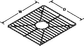 Bottom basin rack for 8 Degree Line Drawing
