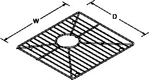 Bottom basin rack large for 8 Degree Line Drawing