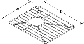 Bottom basin rack small for 8 Degree Line Drawing