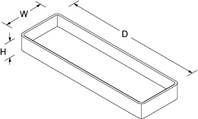 Utensil tray Line Drawing