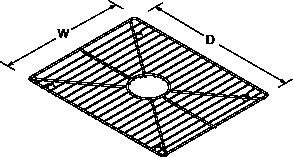 Bottom basin rack (1) Line Drawing