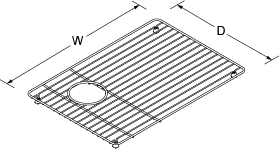Bottom basin rack left for Riverby Line Drawing