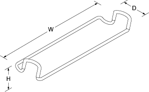 Divider dish cloth bar for Strive Line Drawing