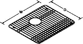 Bottom basin rack for Iron Tones 6588 Line Drawing