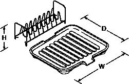 Universal draining board Line Drawing