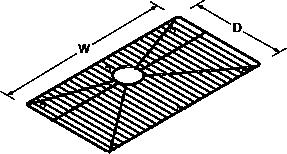 Bottom basin rack for Strive 5285 Line Drawing