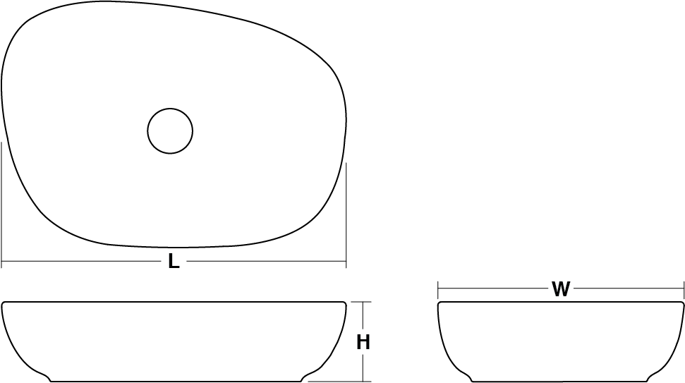 Kankara vessel basin Line Drawing