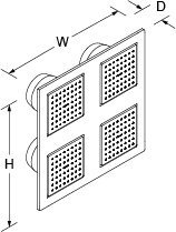 Overhead showering panel Line Drawing