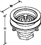 Basket strainer Waste Line Drawing