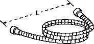 MasterShower Hose 1520mm Line Drawing
