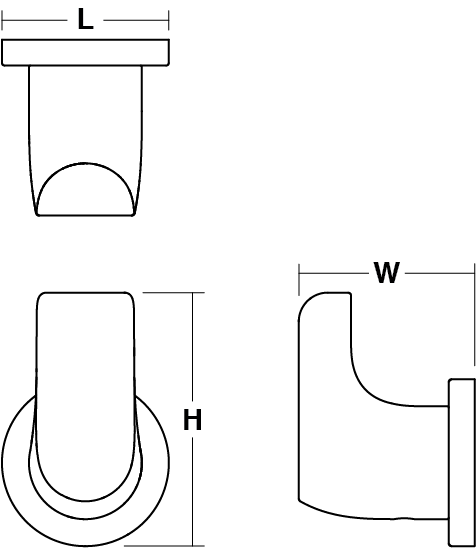 Avid Composed robe hook Line Drawing