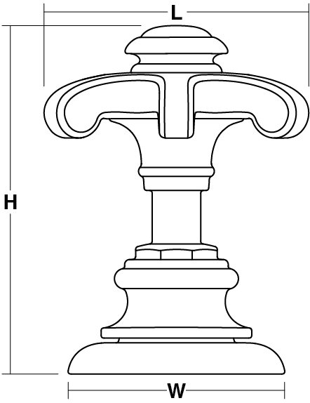 Artifacts® Prong Handles Line Drawing