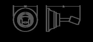 Bancroft Wall-mount handshower holder Line Drawing