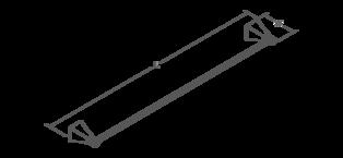 Margaux 657mm towel rail Line Drawing