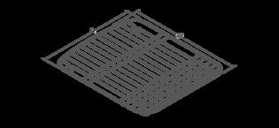 Spacio 1700x750mm bath Line Drawing