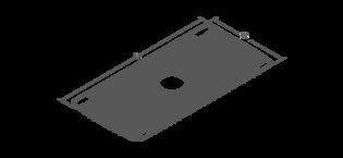 Volute 1700mm Freestanding Bath Line Drawing