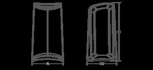 Choreograph freestanding shower seat Line Drawing